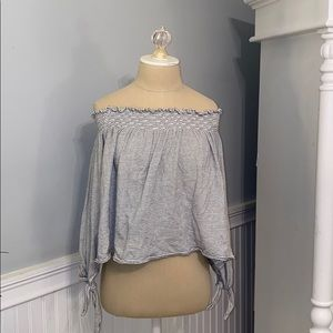 Free People Off the Shoulder striped top